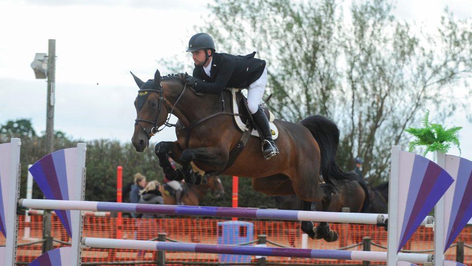 Richard Howley riding Matrone VD Donkhoeve at Weston Lawns End of Season Bash.