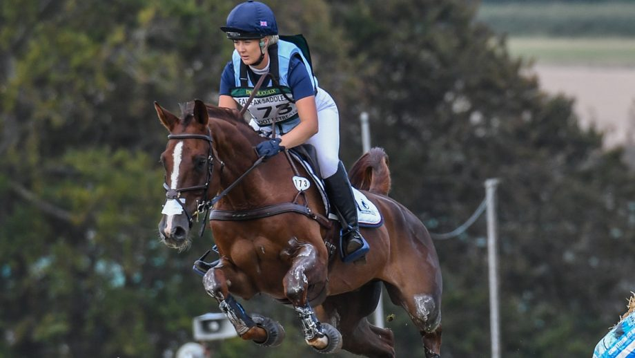 Yasmin Ingham and Banzai Du Loir go clear inside the time on the cross-country to win the eight- and nine-year-old CCI4*-S at Burnham Market in September 2020.