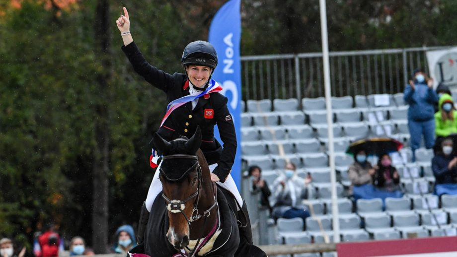 Laura Collett celebrates her first five-star victory at Pau 2020, riding London 52. Pau Horse Trials 2020 final results: Laura Collett celebrates victory on London 52
