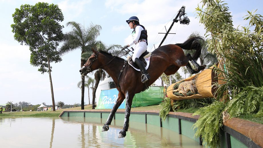 US event rider Lauren Nicholson (née Kieffer) at the 2016 Olympic Games.