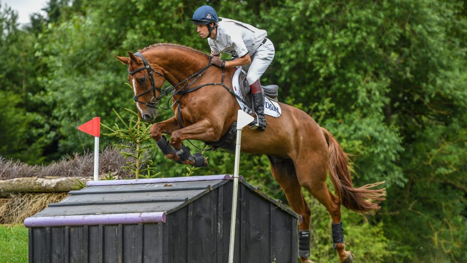 Harry Meade and Merrywell Tradition at Aston-le-Walls in July 2020.