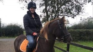 Rider Luka Sibley-Corey has called for defibrillators to be more widely available after one helped to save her life when she sustained a heart attack while out hacking