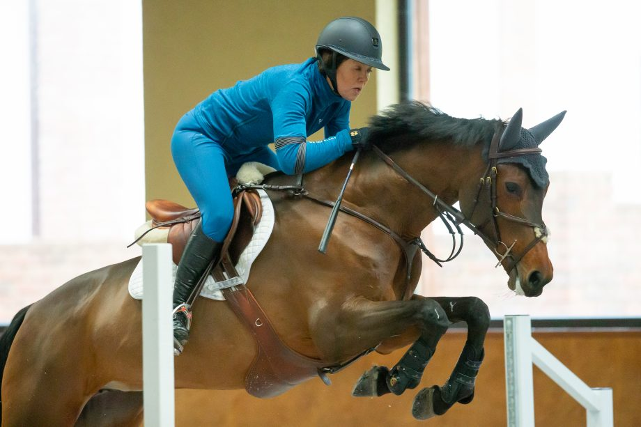 Sarah Lewis' jumping exercise to improve straightness and contro