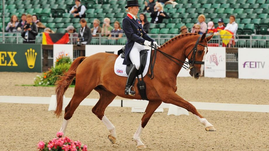 Laura Bechtolsheimer riding Mistral Hojris at the 2009 European Championships.