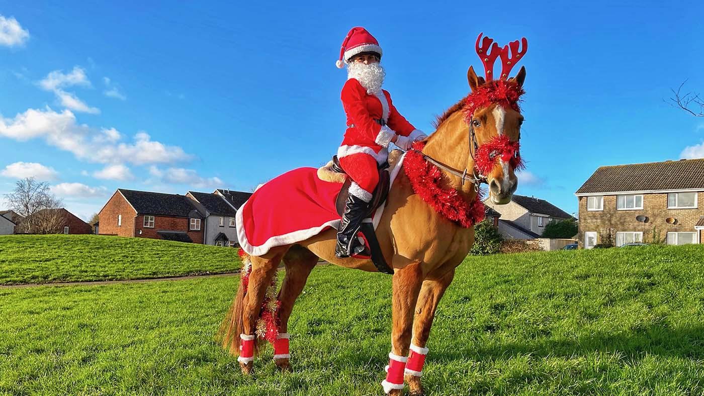 Entre no espírito festivo!  13 ideias de fantasias de Natal para cavaleiros de todas as idades e suas montarias (de rena) 3