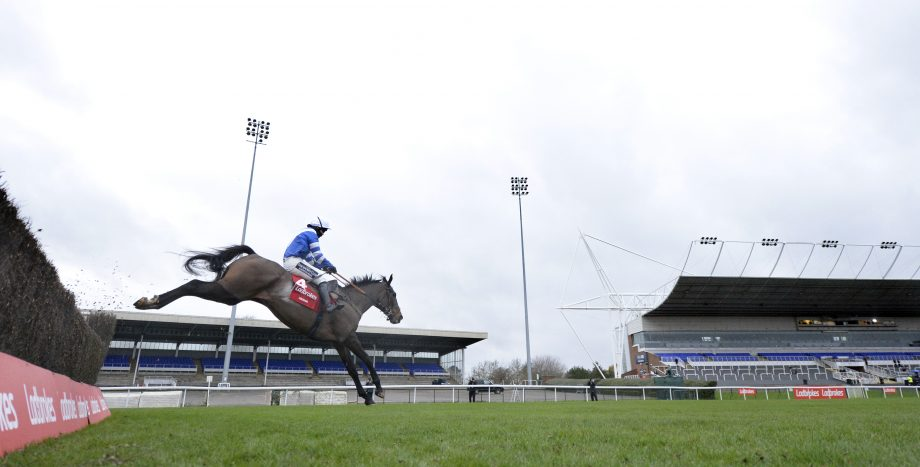 Frodon Bryony Frost King George 2020 Frodon and Bryony Frost jump the last in front to win in front of empty stands 26-12-20