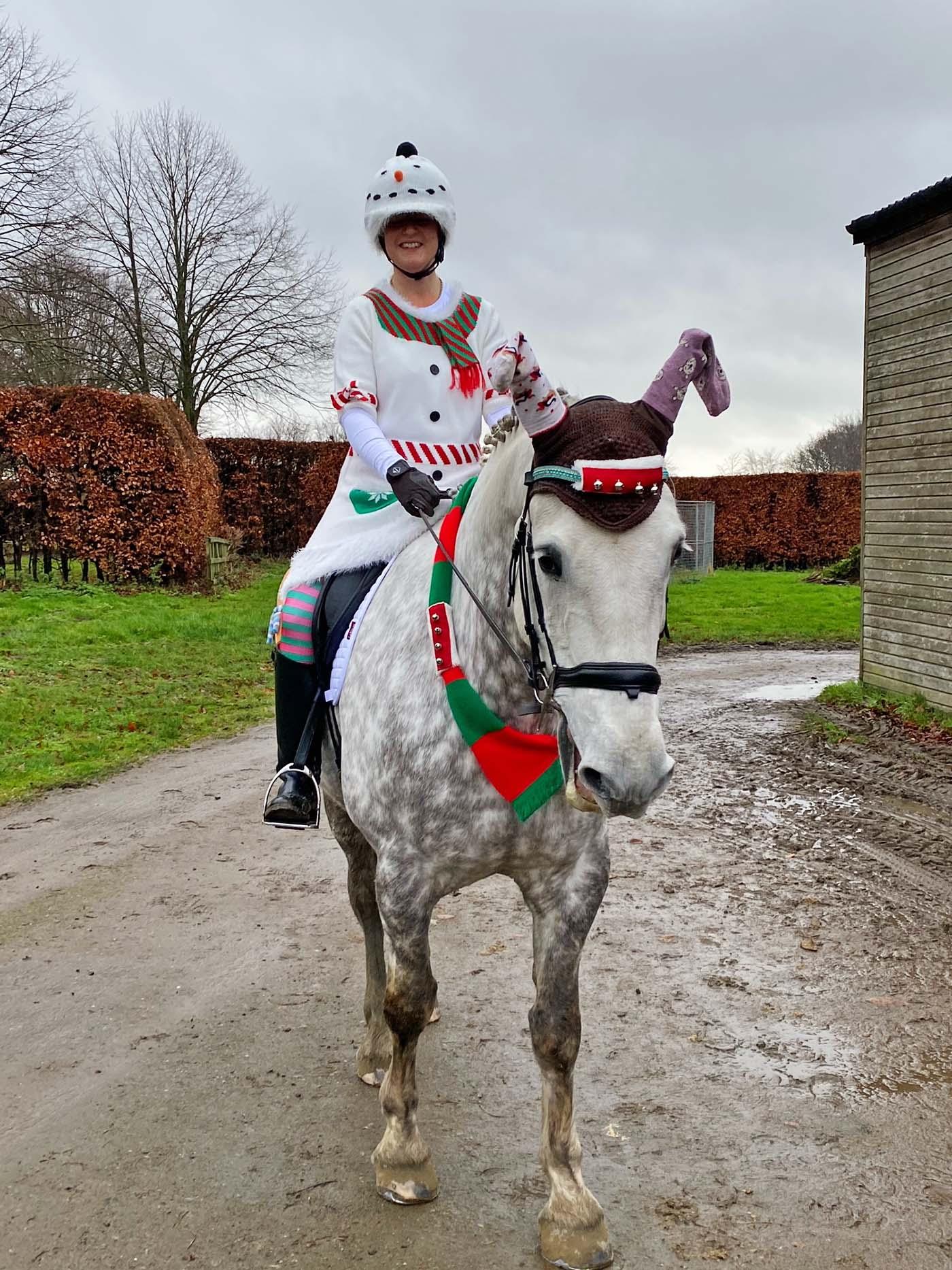 Entre no espírito festivo!  13 ideias de fantasias de Natal para cavaleiros de todas as idades e suas montarias (de rena) 9