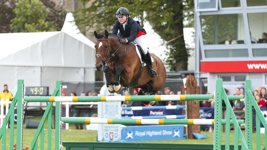 Kirsty Aird riding Jumping Mac Flash in the Grand Prix at the Royal Highland Show 2017