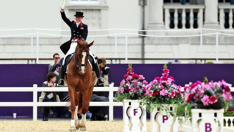 Great Britain's Laura Bechtolsheimer riding Mistral Hojris in the Individual Grand Prix Special Team final in the Equestrian Dressage team at Greenwich Park, London. PRESS ASSOCIATION Photo. Picture date: Tuesday August 7, 2012. See PA story OLYMPICS Equestrian Dressage. Photo credit should read: Steve Parsons/PA Wire. EDITORIAL USE ONLY