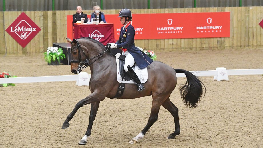 Charlotte Dujardin is crowned national champion on Mount St John Freestyle