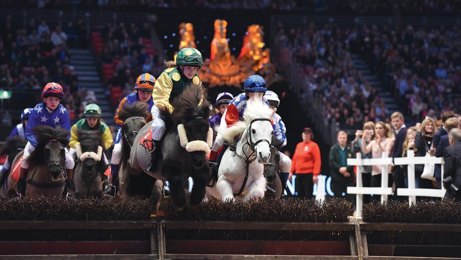 The Sheltand Pony Grand National at the London International Horse Show