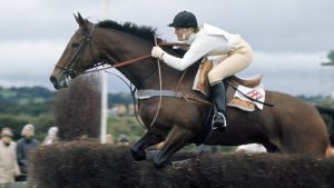 Mary Gordon-Watson of Great Britain riding Cornishman V en route to winning the Eventing World Championship at Punchestown, Ireland on 13th September 1970. (Photo by Ed Lacey/Popperfoto/Getty Images)