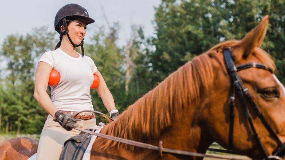 Franklin balls for horse riding
