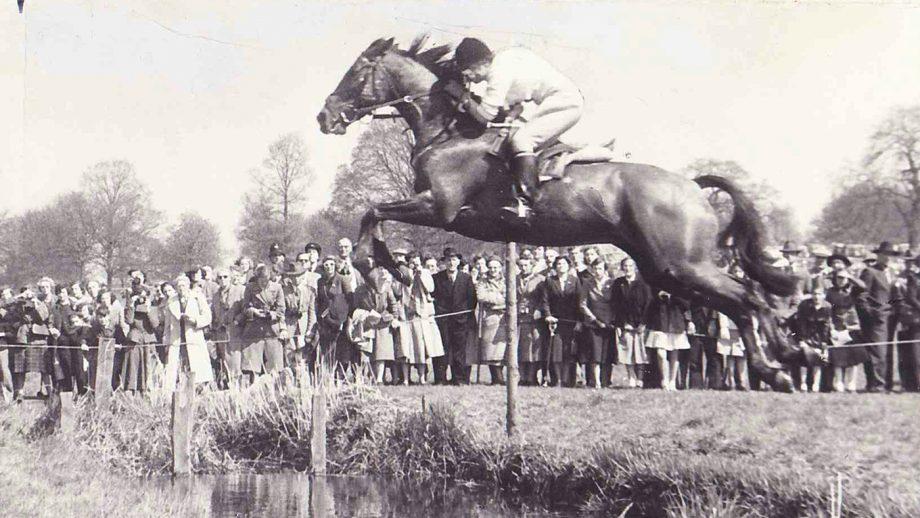 Margaret Hough badminton Badminton Horse Trials 1954 Margaret Hough on Bambi, Winner