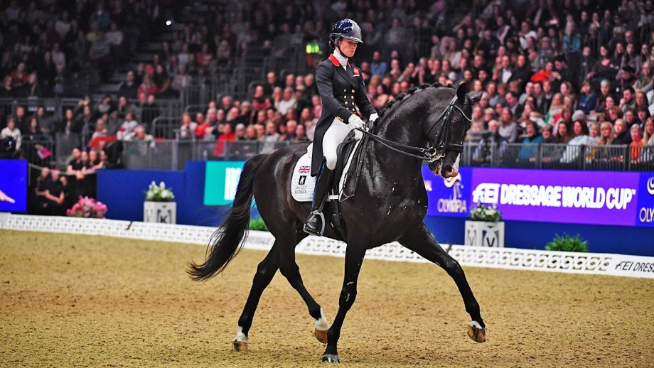 Charlotte Fry ( GBR ) riding Everdale during the FEI Dressage World Cup - Grand Prix Freestyle at Olympia, The London International Horse Show held at Olympia in London in the UK, between the 16-22 December 2019