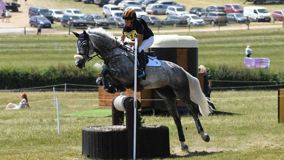 Liz Halliday-Sharp and Cooley Quicksilver at Barbury 2018.