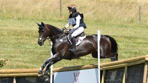 Liz Halliday-Sharp facts: Liz riding Fernhill By Night at Barbury 2018.