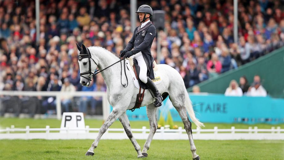 Badminton Horse Trials dressage: Andrew Nicholson on Swallow Springs