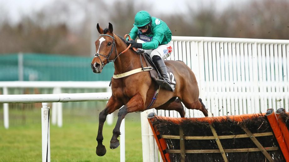 The Cob racehorse ridden by Daryl Jacob clears the last before going on to win the Albert Bartlett River Don Novices' Hurdle at Doncaster Racecourse. Picture date: Saturday January 30, 2021.