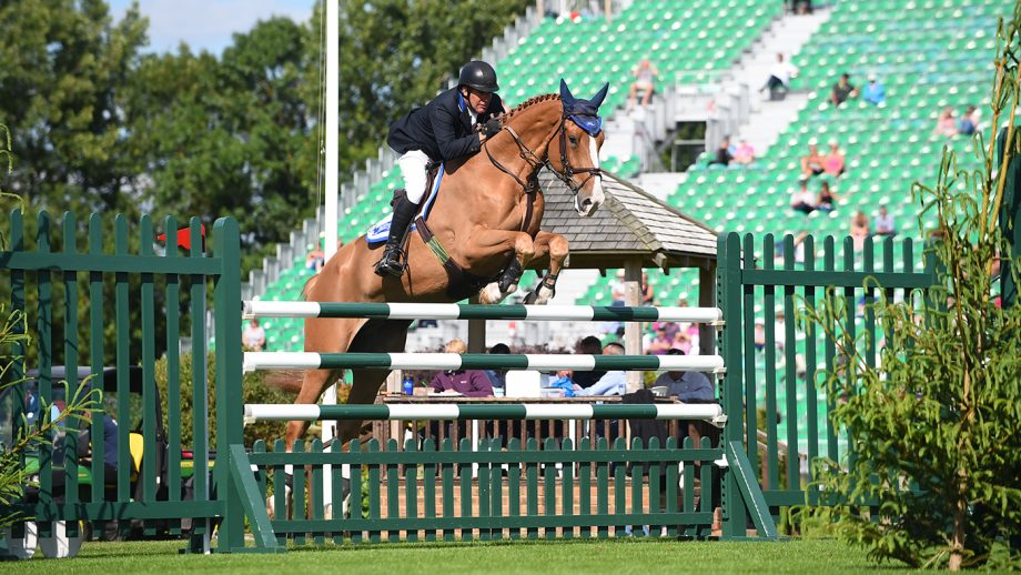William Funnell jumping Billy Diamo at Hickstead. The pair are among those named as nominated entries for the British Olympic showjumping team.