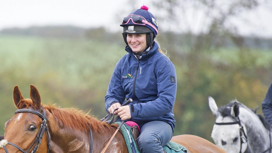 Gina Andrews marked her first day back racing after a nasty fall in December with a hat-trick, on the opening day of the restarted point-to-point season.