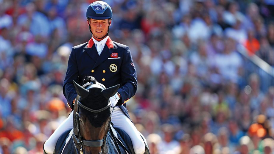 ROTTERDAM, NETHERLANDS - AUGUST 24: Carl Hester of Great Britain or Team GB riding Hawtins Delicato competes during Day 6 of the Grand Prix Freestyle, Longines FEI Dressage European Championship presented by Rabobank at Foundation CHIO on August 24, 2019 in Rotterdam, Netherlands. (Photo by Dean Mouhtaropoulos/Getty Images for FEI)