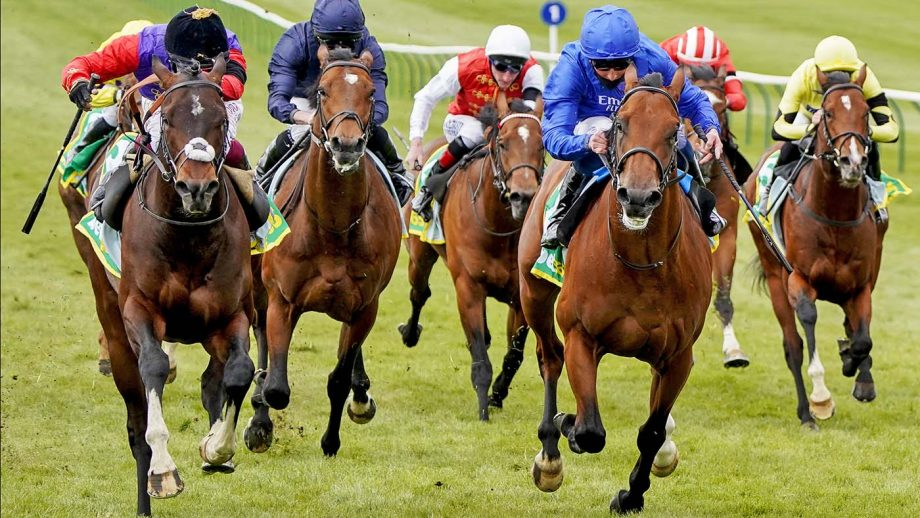 NEWMARKET, ENGLAND - APRIL 14: Oisin Murphy riding Tactical (L) win The bet365 European Free Handicap at Newmarket Racecourse on April 14, 2021 in Newmarket, England. Sporting venues around the UK remain under restrictions due to the Coronavirus Pandemic. Only owners are allowed to attend the meeting but the public must wait until further restrictions are lifted. (Photo by Alan Crowhurst/Getty Images)