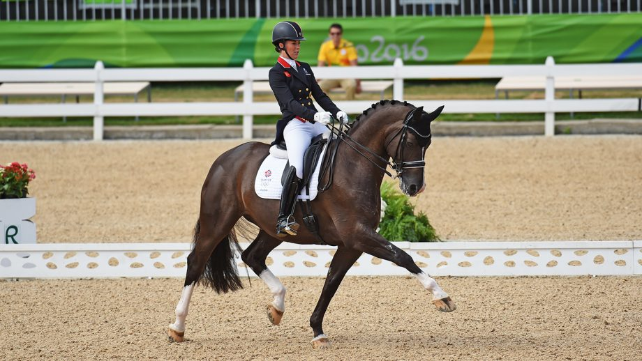 Charlotte Dujardin GBR riding Valegro, during the grand prix of the dressage competition at the Olympic Equestrian Centre in Deodoro near Rio, Brazil on 11th August 2016