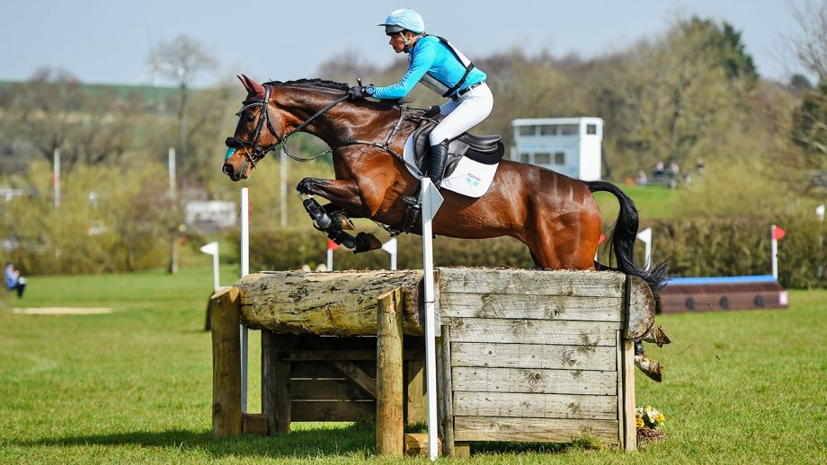 Izzy Taylor riding Monkeying Around in advanced section A, during the Aston-le-Walls Elite competition on 31 March 2021.