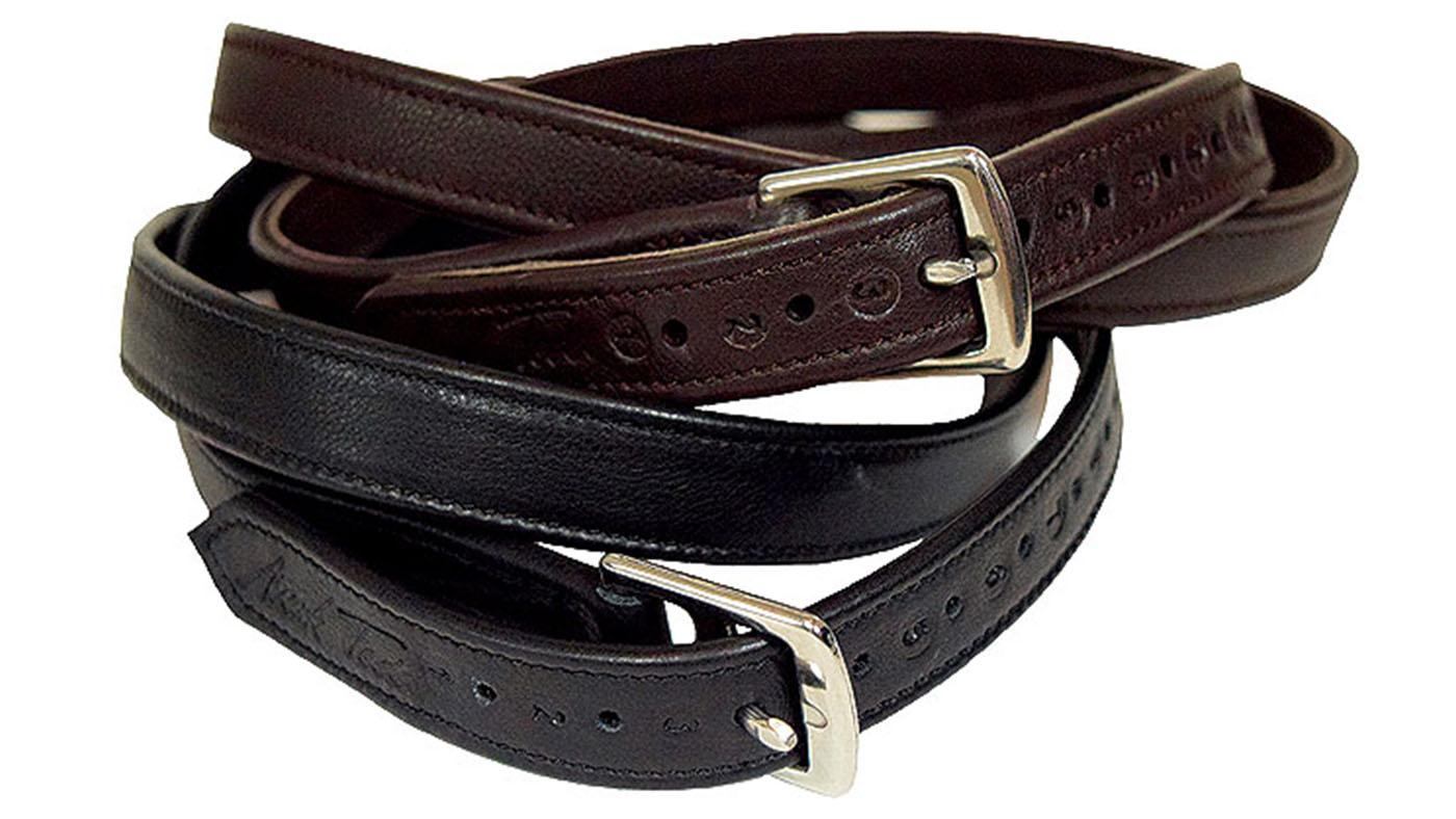 Bates Stirrup Leathers Contrast Stitching