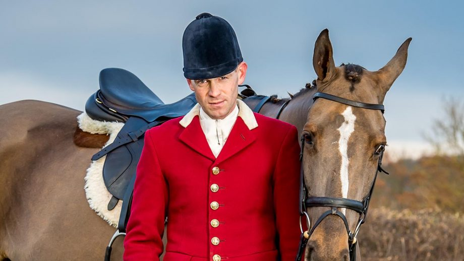 Daniel Cherriman and hounds at the Pytchley hunt kennels