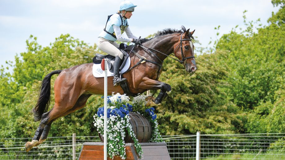 Izzy Taylor riding Monkeying Around in Int Section N during the Rockingham Castle Horse Trials in The Great Park Rockingham near Corby in Northamptonshire in the UK on 21st May 2017