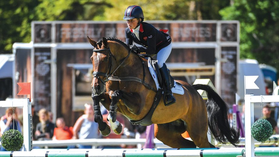 Ros canter riding Shannondale Nadia at Houghton International
