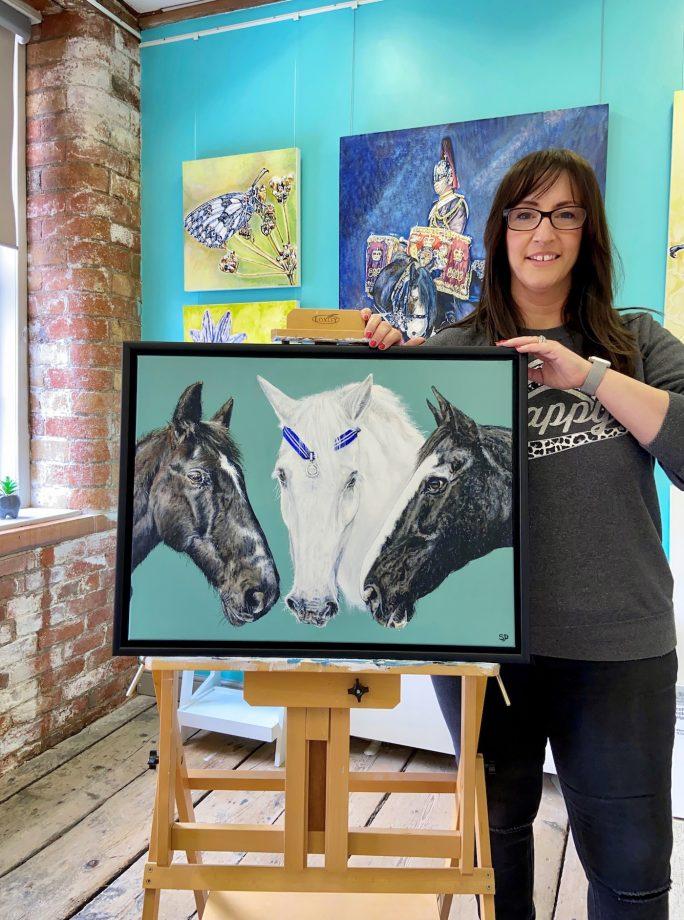 Artist Sarah Perkins the Horse Trust