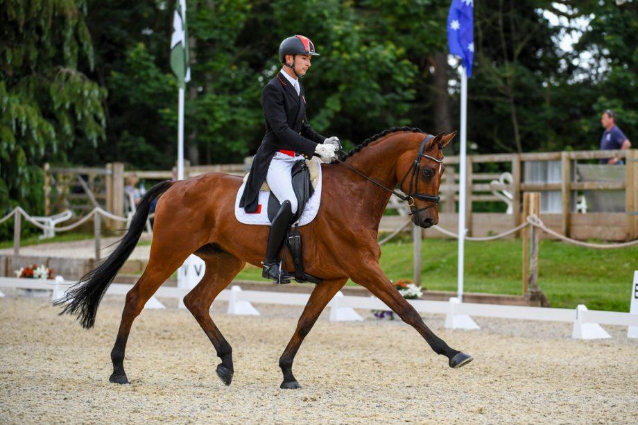 Bicton Horse Trials dressage: Alex Hua Tian and Jilsonne Van Bareelhof