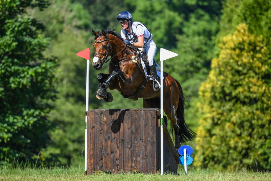 Bicton Horse Trials cross-country: Bubby Upton and Cola III