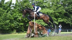 Nicola Wilson riding JL Dublin to win the CCI4*-L class at Bicton International 2021. The pair joined the British Olympic eventing entries for the Tokyo Olympics after this result