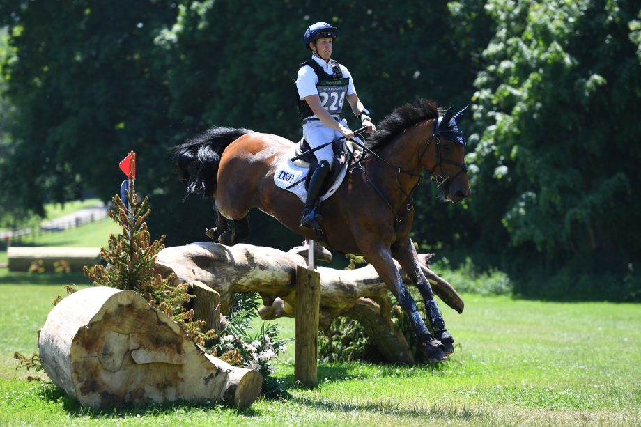 Tom McEwen riding Toledo De Kerser to win the CCI4*-S section at Bicton 2021