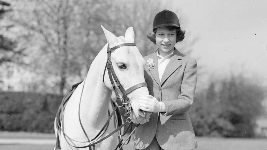 21st April 1939: Princess Elizabeth with a pony in Windsor Great Park, Berkshire. (Photo by Central Press/Getty Images)