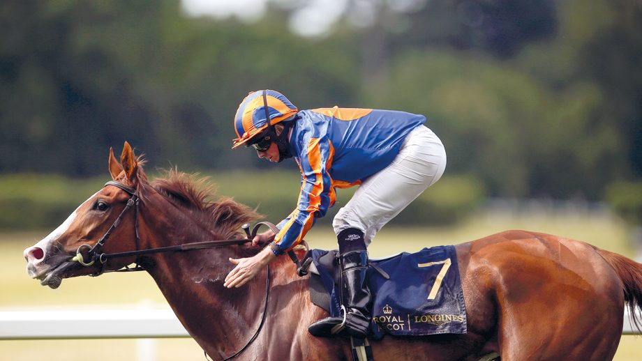 King George VI and Queen Elizabeth Stakes betting Love ridden by jockey Ryan Moore on their way to winning the Prince Of Wales's Stakes during day two of Royal Ascot at Ascot Racecourse. Picture date: Wednesday June 16, 2021.