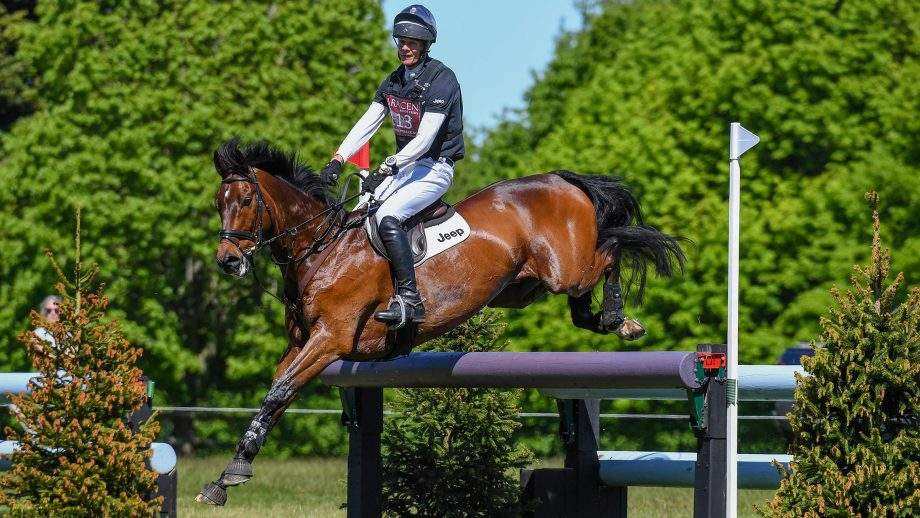 William Fox-Pitt riding LITTLE FIRE in CCI-S O4* Section D during SARACEN HORSE FEEDS HOUGHTON INTERNATIONAL Horse Trials held at Houghton Hall near Kings Lynn in Norfolk in the UK on the 30th May 2020