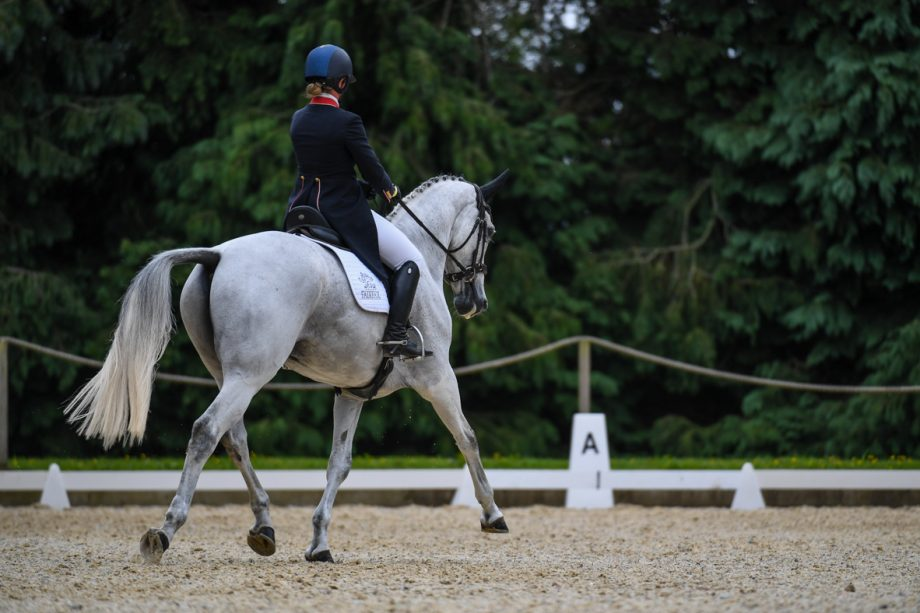 Bicton Horse Trials dressage: Kitty King and Cristal Fontaine