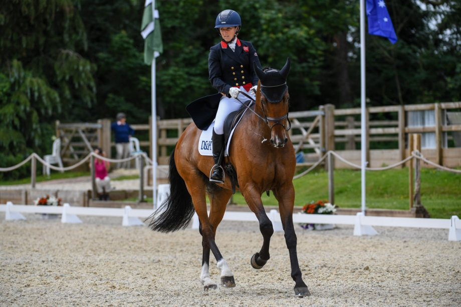 Bicton Horse Trials dressage: Laura Collett and London 52