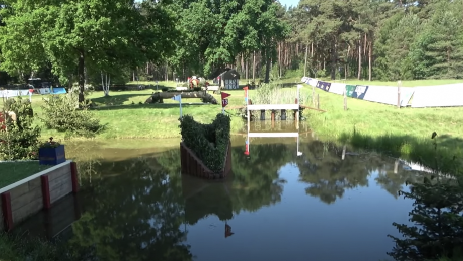 Luhmühlen Horse Trials cross-country: fence 13 on the 2021 five-star track