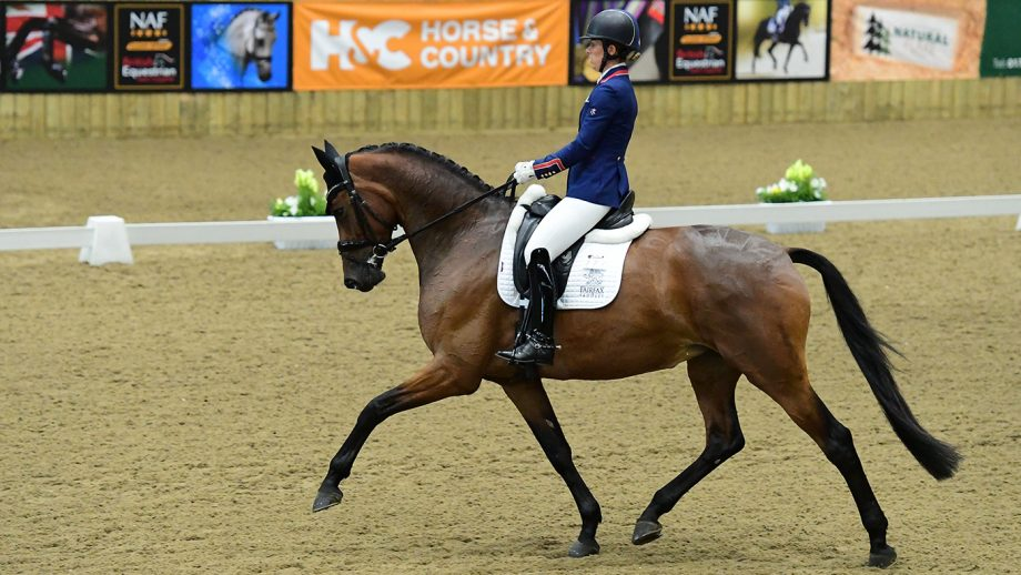 Charlotte Dujardin and Times Kismet at the Winter Dressage Championships 2021