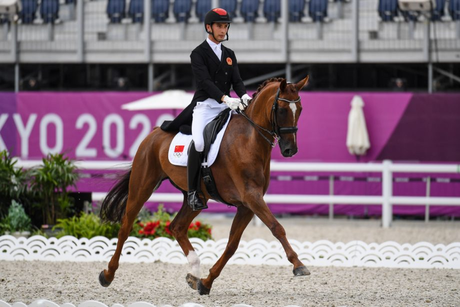 Olympic eventing dressage: Alex Hua Tian and Don Geniro