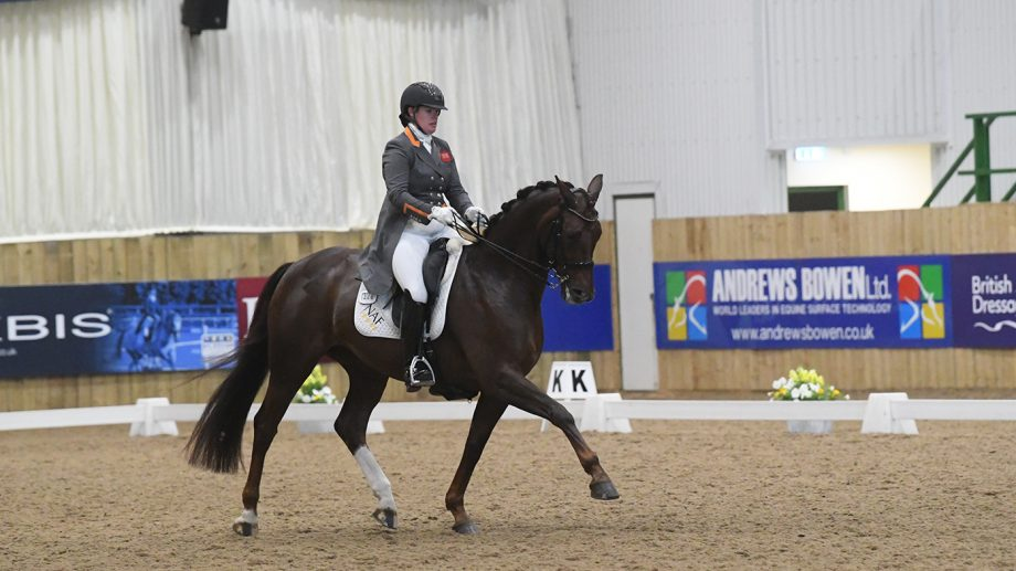 Alice Oppenheimer on Headmore Bella Ruby - the Winter Dressage Championships inter I freestyle champions