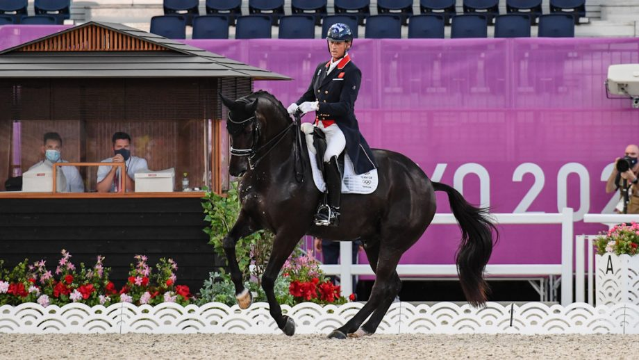 Carl Hester riding En Vogue in the Tokyo Olympics