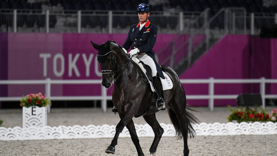 Carl Hester riding En Vogue in the Tokyo Olympics grand prix