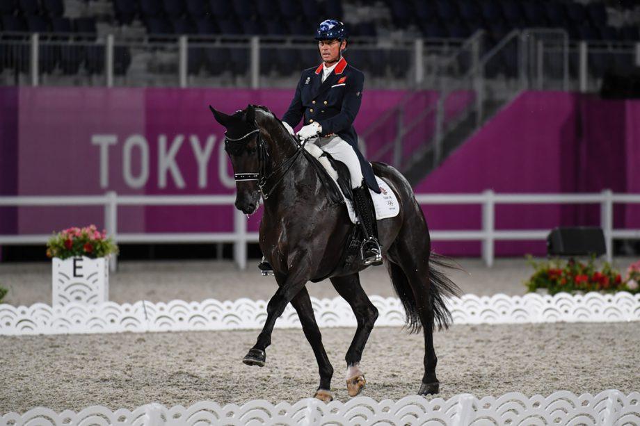 Carl Hester riding En Vogue at the Tokyo Olympics grand prix dressage